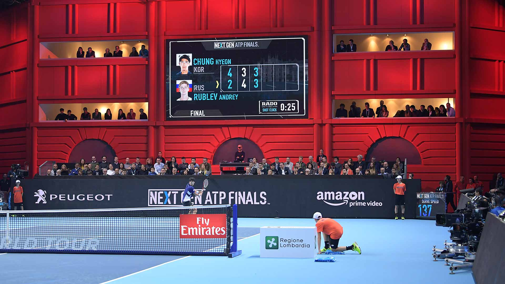 Shorter sets (first to four) was one of many innovations at the inaugural Next Gen ATP Finals.