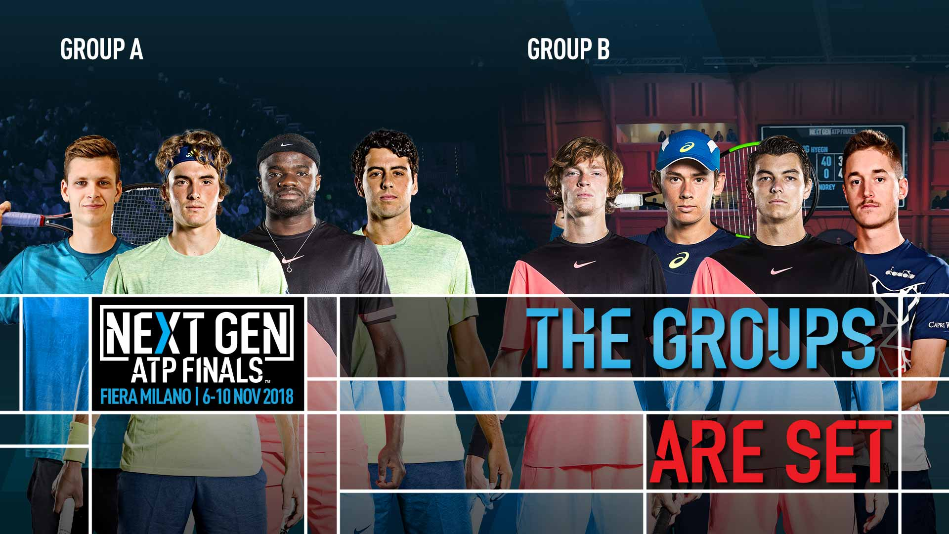 Groups Set For The 2018 Next Gen ATP Finals | Next Gen ATP Finals