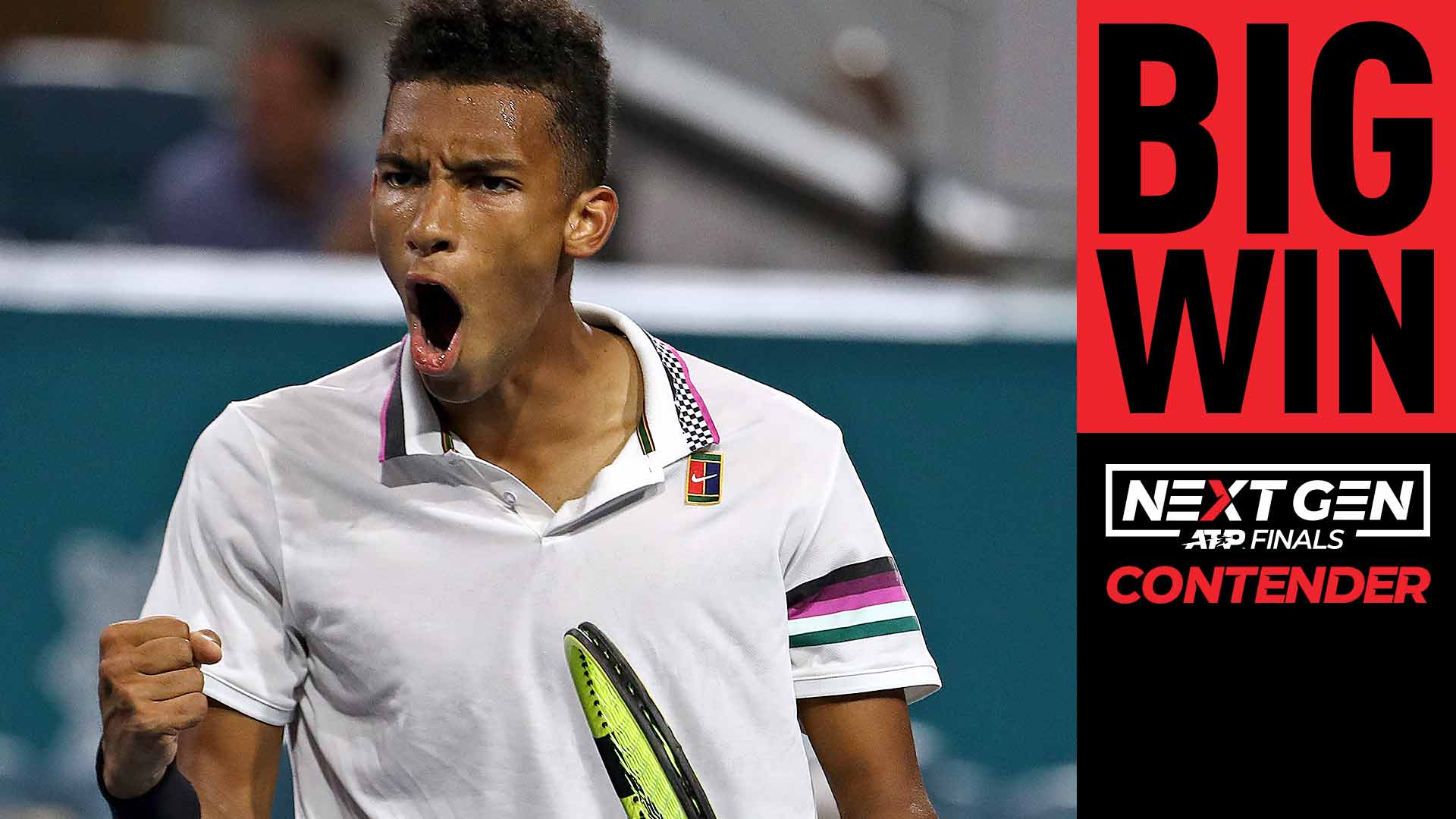 Felix Auger-Aliassime beats Borna Coric on Wednesday in Miami