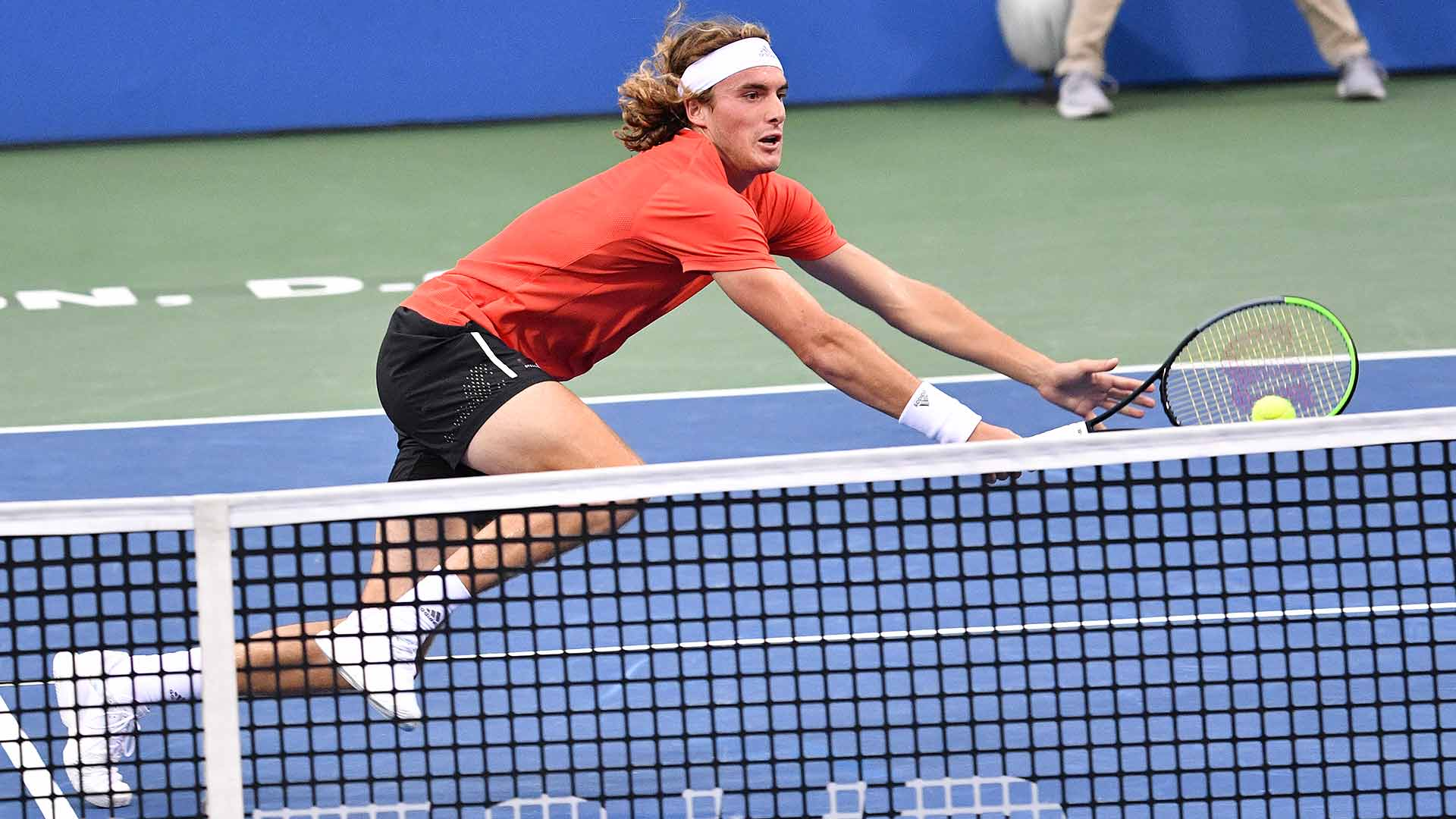 Stefanos Tsitsipas reaches the third round of the Citi Open on Wednesday