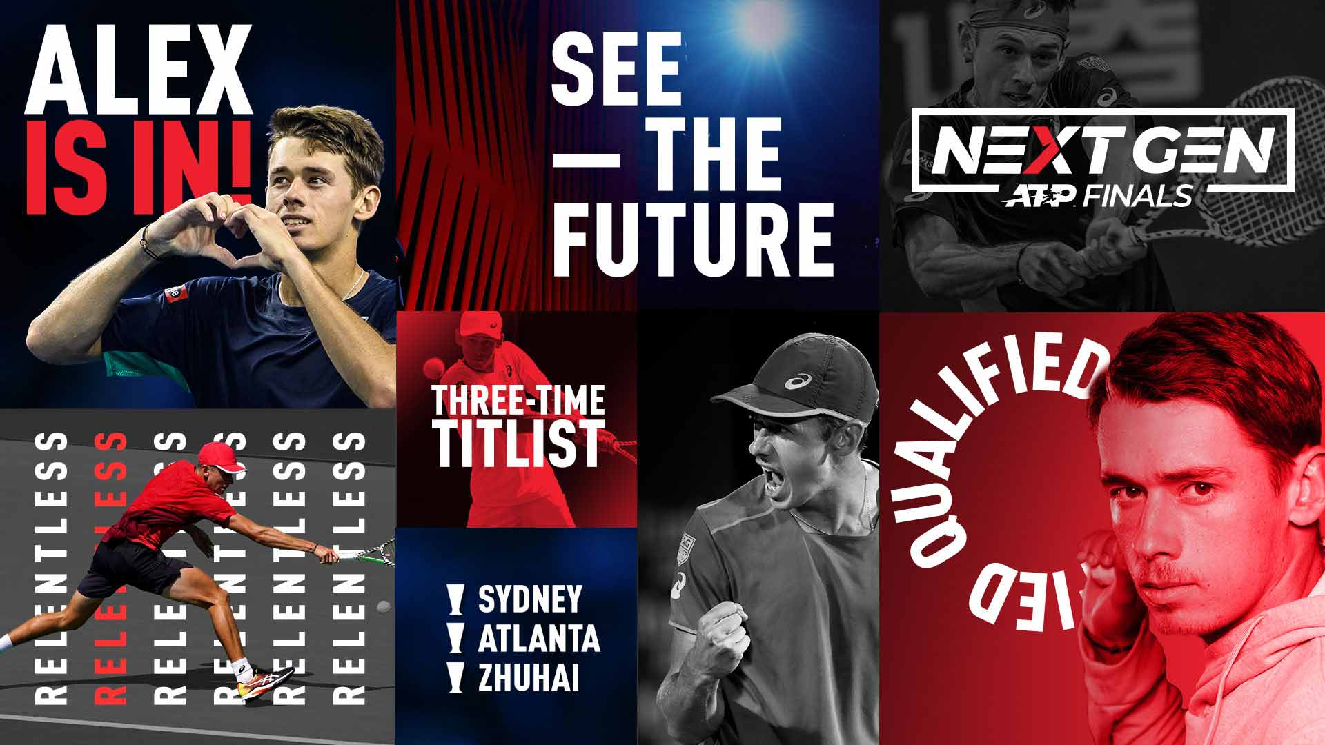 Alex de Minaur qualifies for the 2019 Next Gen ATP Finals in Milan.