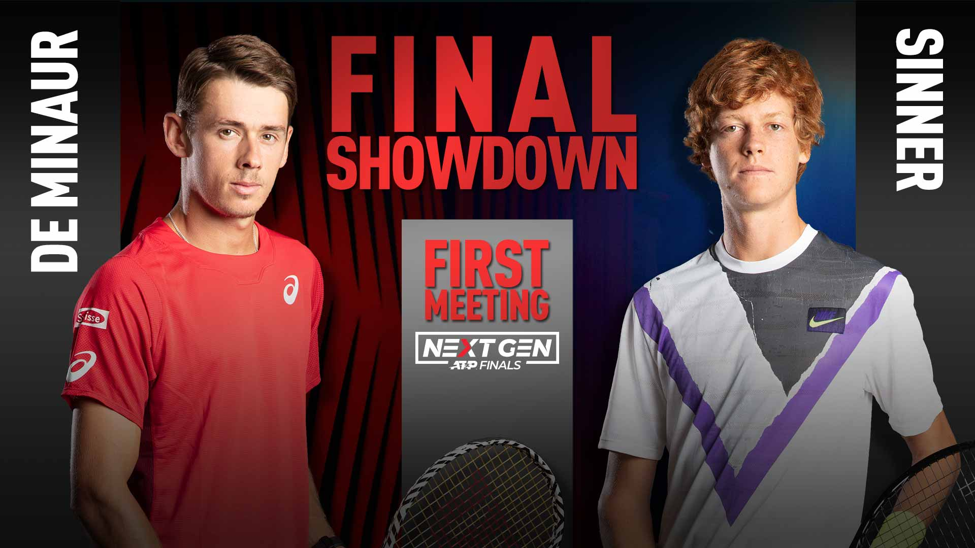 Alex de Minaur faces Jannik Sinner in the Next Gen ATP Finals title match on Saturday night.