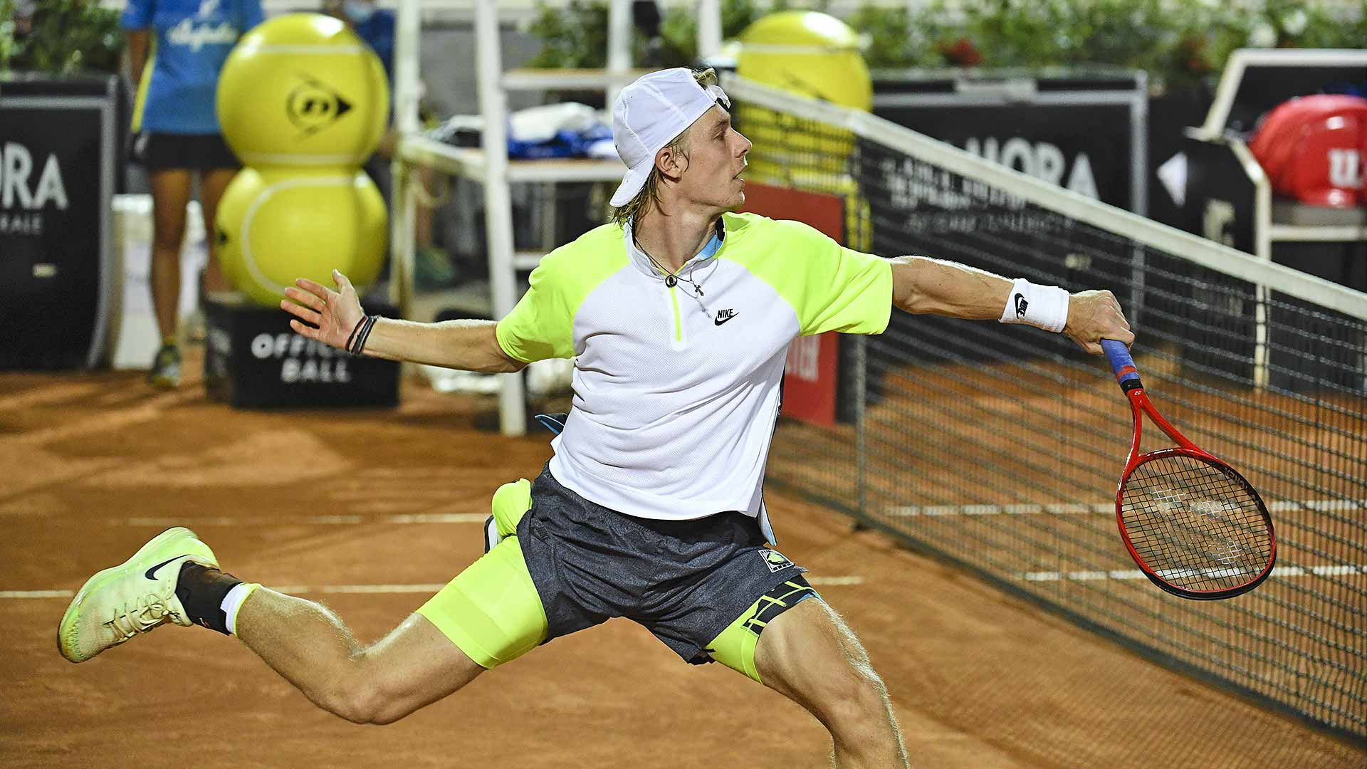 Denis Shapovalov claims his 100th tour-level match win to reach the Rome semi-finals.
