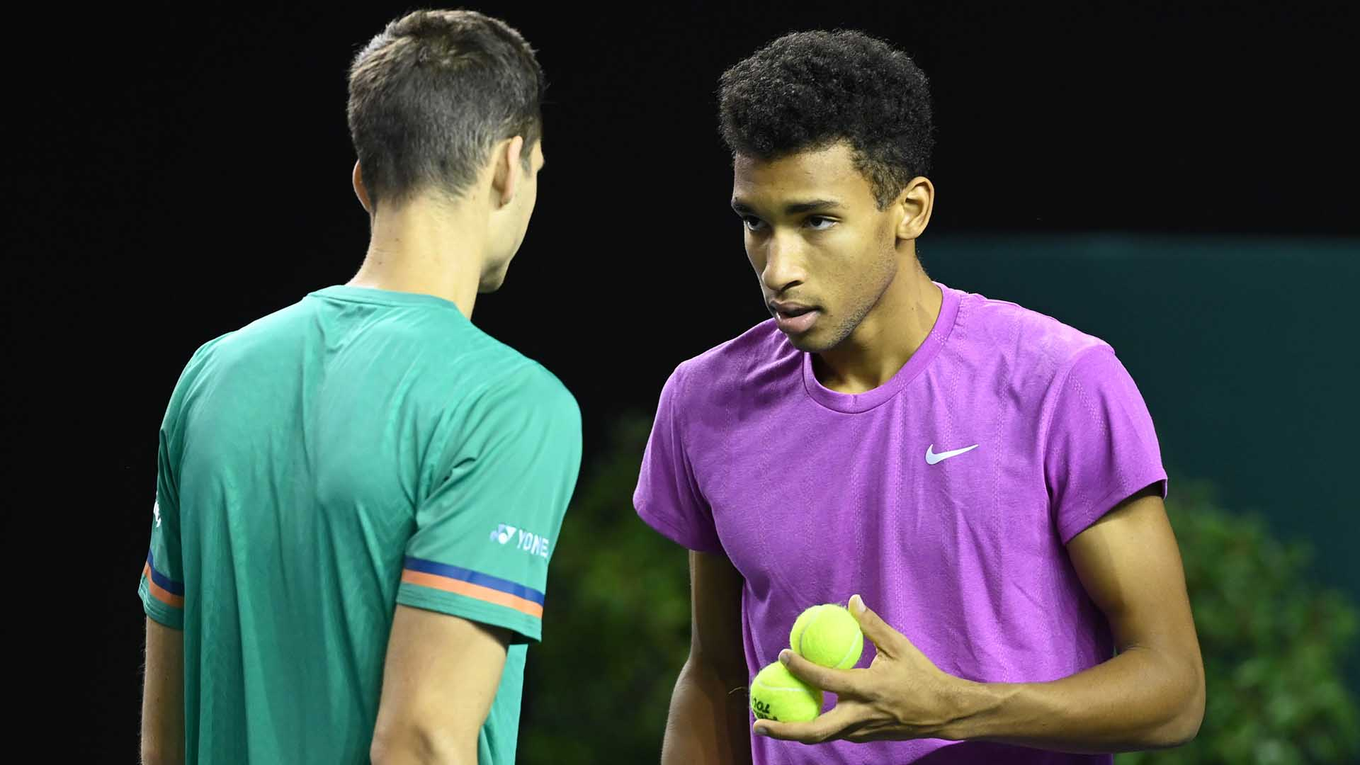 Felix Auger-Aliassime (right) and Hubert Hurkacz (left) own a 5-1 team record.