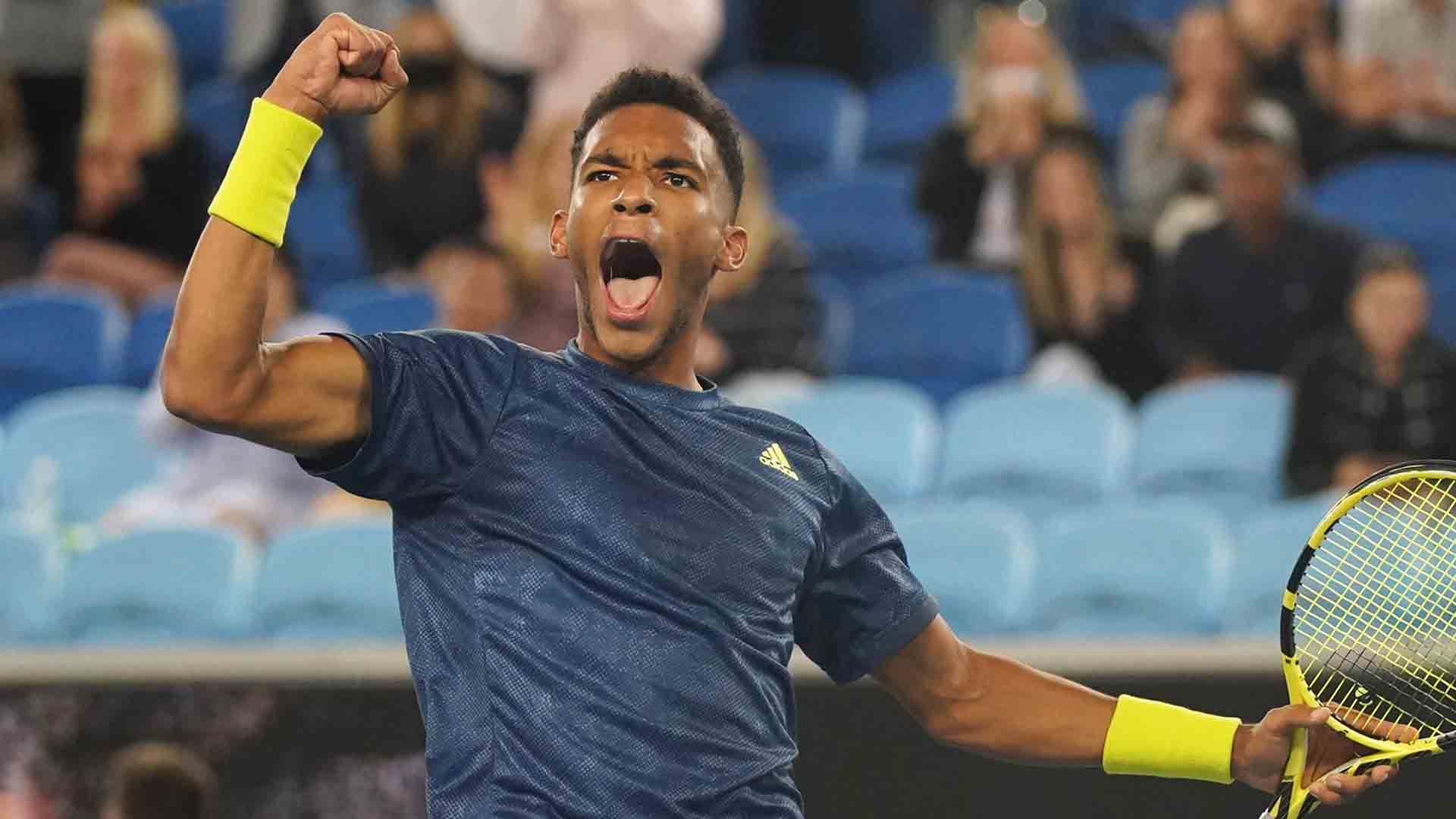 Felix Auger-Aliassime is through to the Australian Open Round of 16 for the first time.