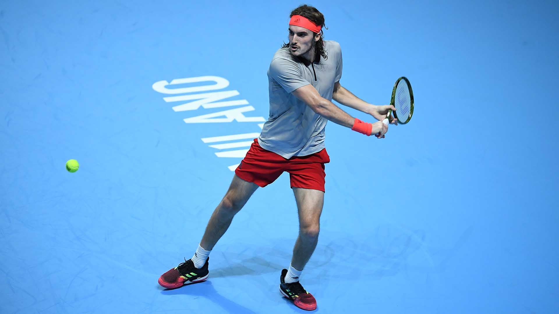 05 Tsitsipas Milan 2018 Tuesday Backhand